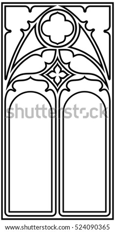 frame for text in the gothic