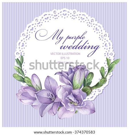 frame for wedding invitation
