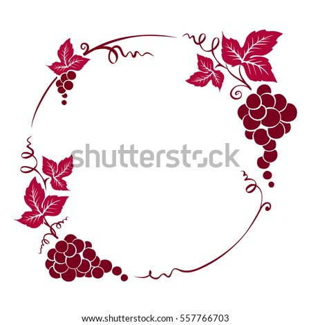 frame from grapes   vector