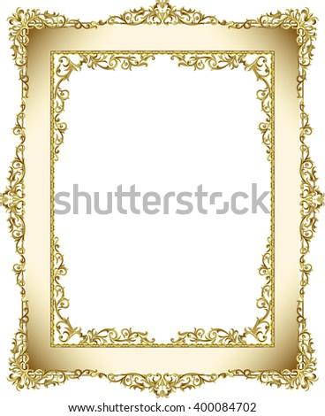 frame gold frame  gold photo