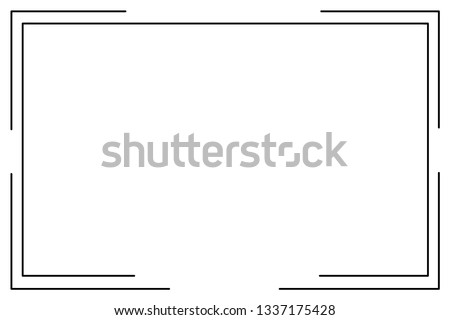frame Icon isolated vector #1337175428