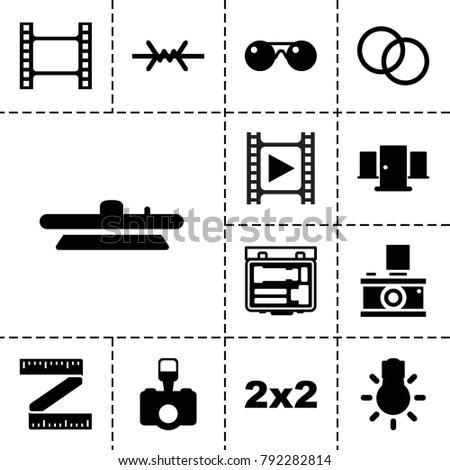 frame icons set of 13 editable