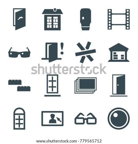 frame icons set of 16 editable