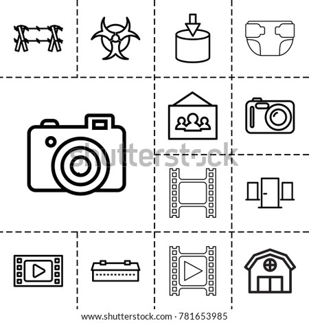 frame icons set of 13 editable
