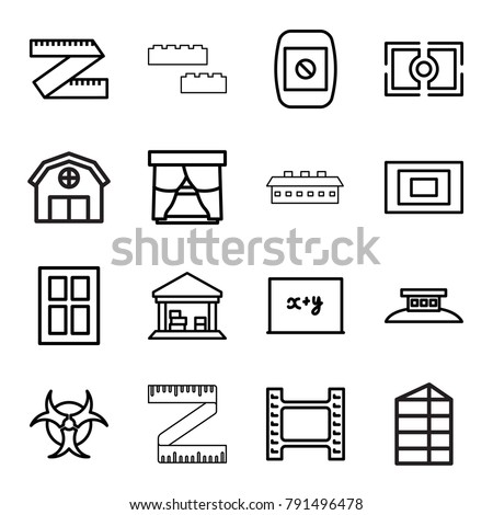 frame icons set of 16 editable
