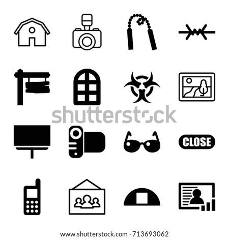 frame icons set set of 16