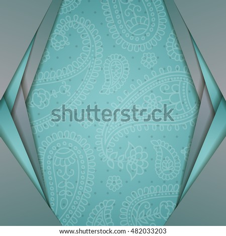 Frame in the Indian style in the background with 
