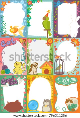 frame kids photo vector picture