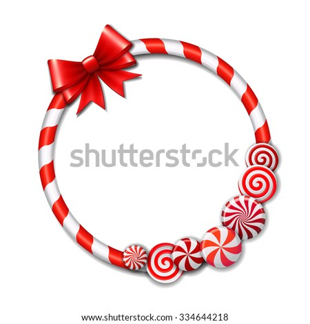 frame made of candy cane  with
