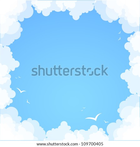 frame made   of clouds....