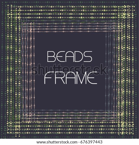 frame made of colorful beads on