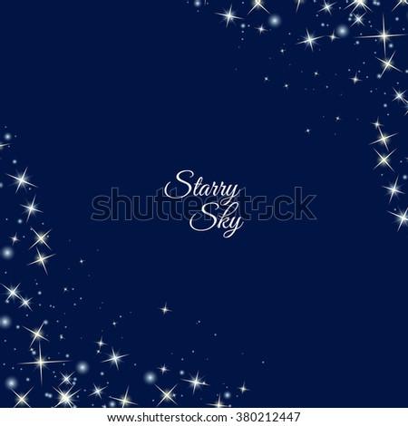 frame made of stars vector