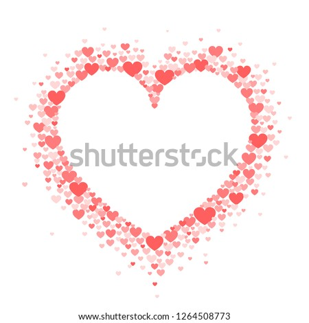 frame of coral hearts in the