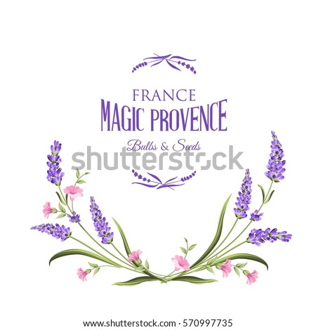 frame of lavender flowers on a