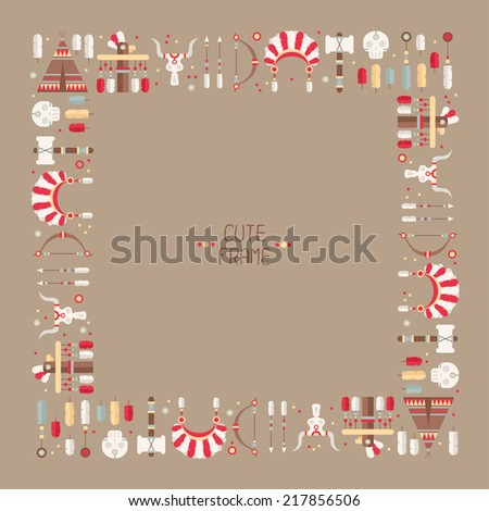 frame of vector colorful ethnic