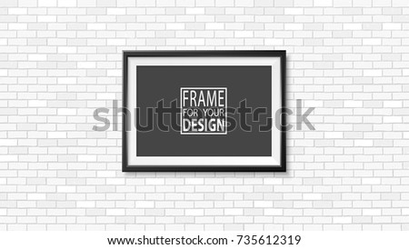 Elegant realistic photo frame template vector - Download Free Vector ...