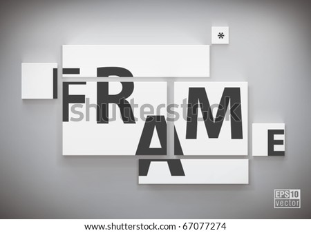 frame on wall for your text and images, eps10 vector - stock vector
