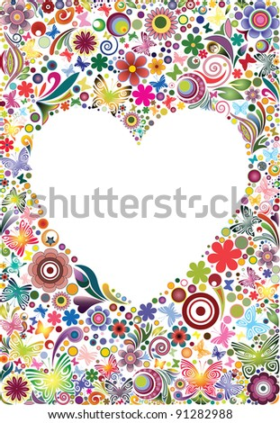 Frame's heart I - stock vector