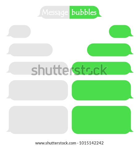 Frame text sms in green color