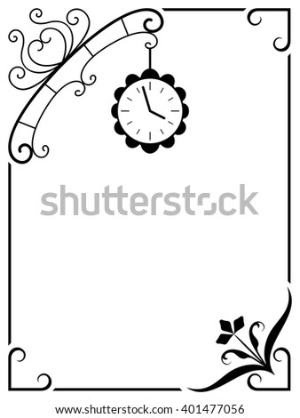 Frame with a clock