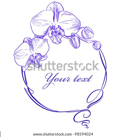 frame with an orchid in a modern style