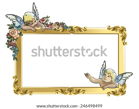 Angel Frame - Download Free Vector Art, Stock Graphics & Images