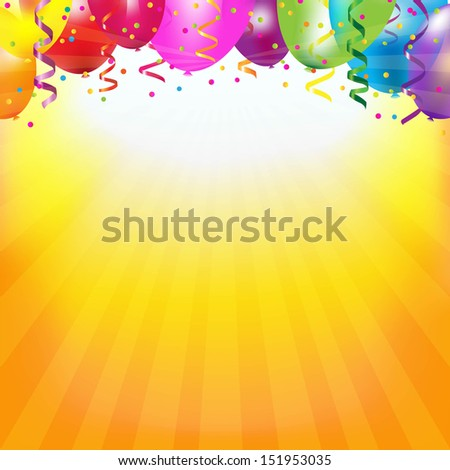 frame with colorful balloons