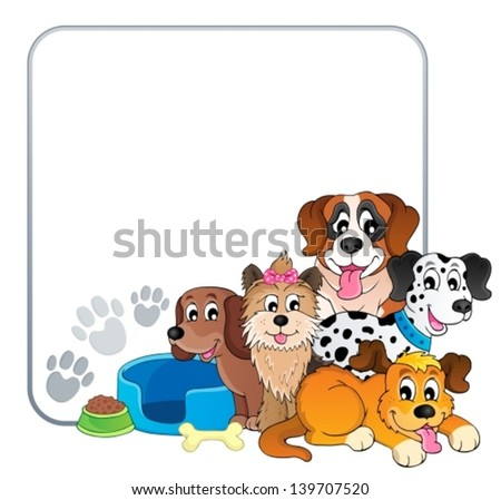 frame with dog theme 2 eps10 vector illustration - Dog Frame