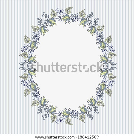 Frame with floral garland