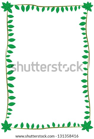 Frame with leaves of different sizes