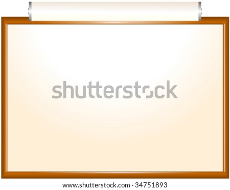 Frame with paper and light - stock vector