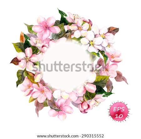 frame wreath with cherry  apple