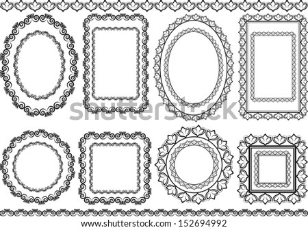 frames and borders - stock vector