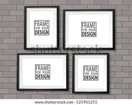 Vector Wall Frames Illustration - Download Free Vector Art, Stock ...