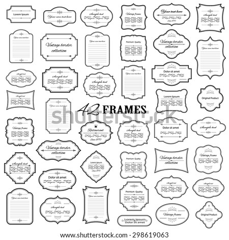 Frames mega set isolated on white.