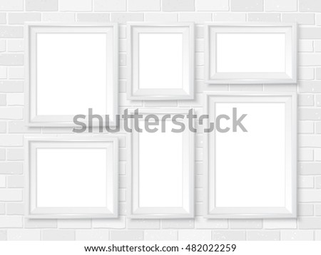 empty picture frame in white room - Download Free Vector Art, Stock ...