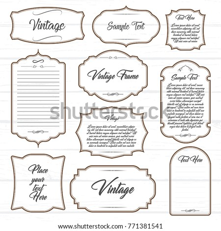 Frames with ornament text vector