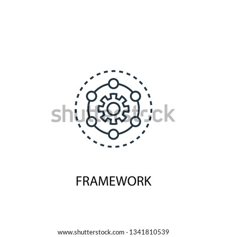 Framework concept line icon. Simple element illustration. Framework concept outline symbol design. Can be used for web and mobile UI/UX Foto stock ©