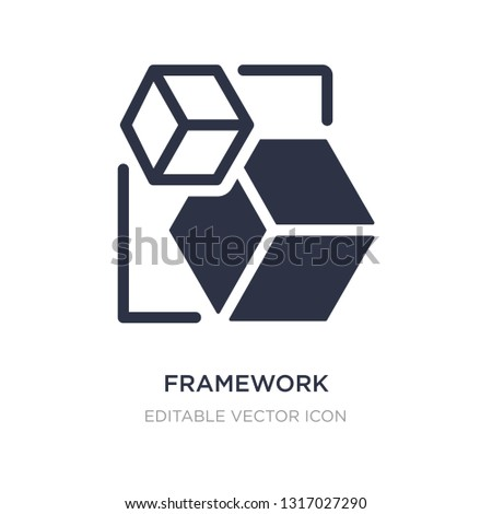 framework icon on white background. Simple element illustration from Shapes concept. framework icon symbol design.
