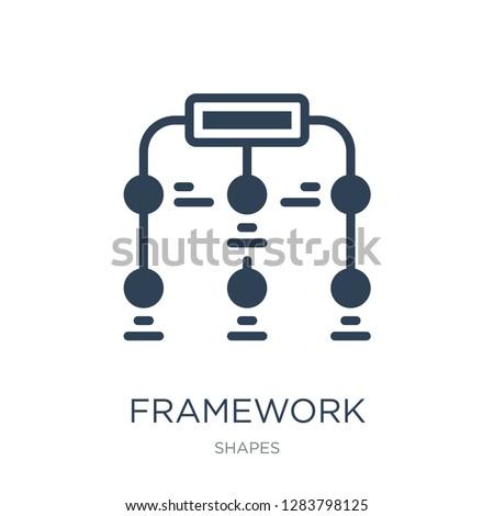 framework icon vector on white background, framework trendy filled icons from Shapes collection, framework vector illustration