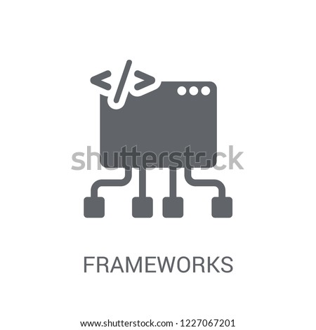 Frameworks icon. Trendy Frameworks logo concept on white background from Technology collection. Suitable for use on web apps, mobile apps and print media.