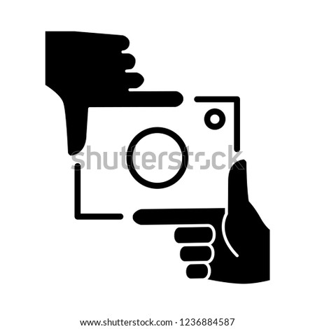framing hands icon