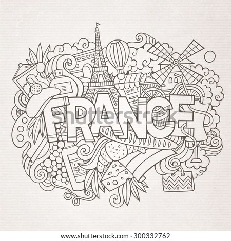 france country hand lettering