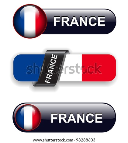 France flag banners, icons theme.