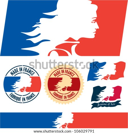 France flag. Made in France. Joan of Arc.