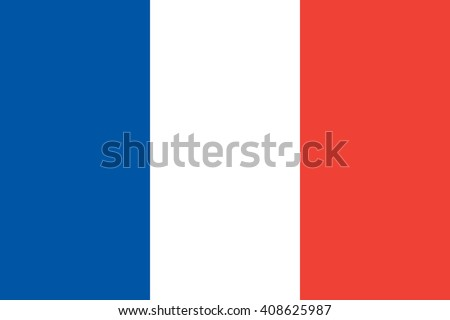 France flag, official colors and proportion correctly. National France flag. Flat vector illustration. EPS10.