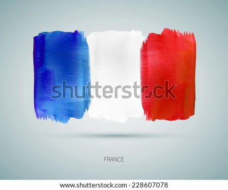 france hand painted national