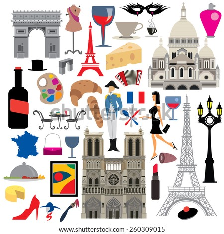 france icon collection  french