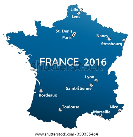 Free Vector Map Of France - Paris map outline