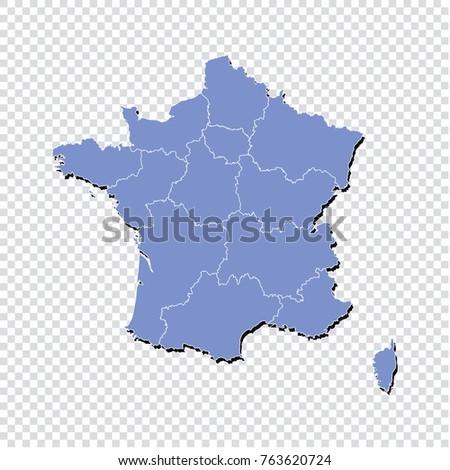 france maphigh detailed blue